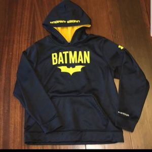 BATMAN UNDER ARMOUR HOODIE RARE DC COMICS WORE 1X
